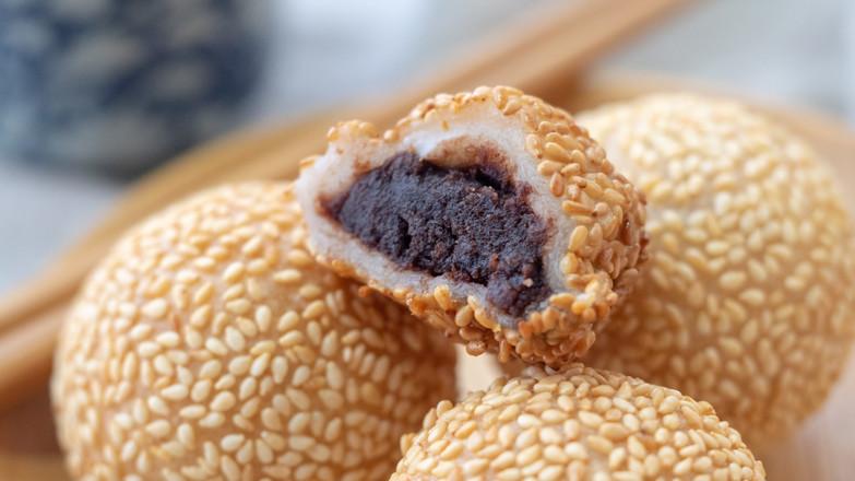 红豆小煎堆【初味日记】成品图