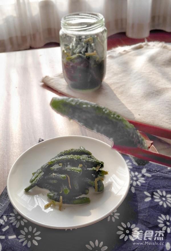 自己腌制的虾油小黄瓜怎么炒