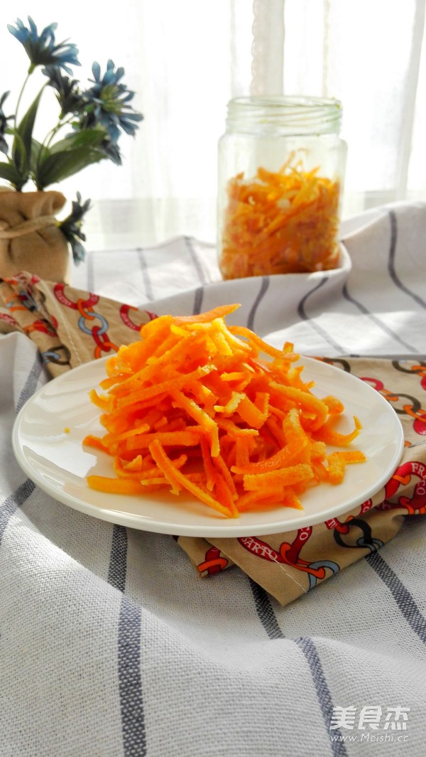 消食化痰的糖渍橙皮成品图