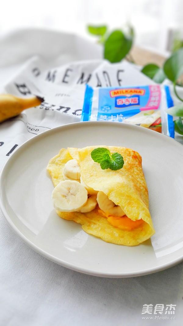 法式芝士香蕉可丽饼成品图