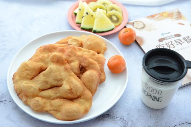 简单早餐—油饼(酵母版)#早餐#的制作方法