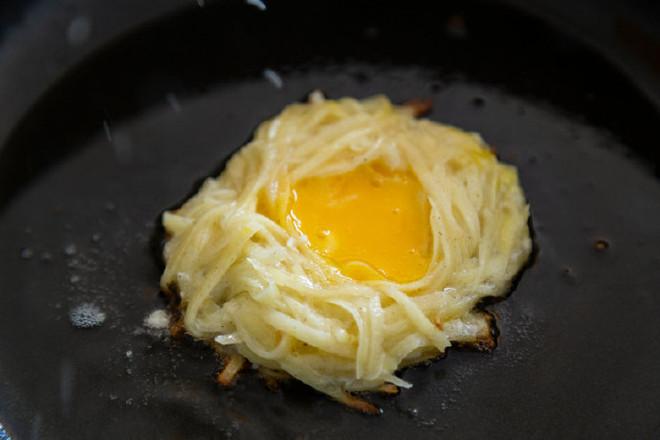 土豆丝煎蛋成品图