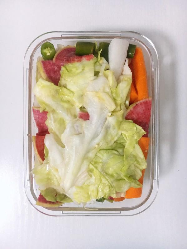 糖醋泡菜成品图
