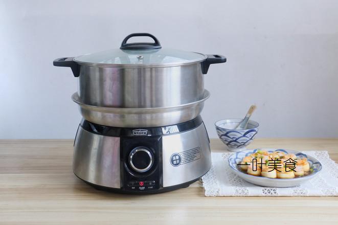 日本豆腐蒸虾仁怎么吃