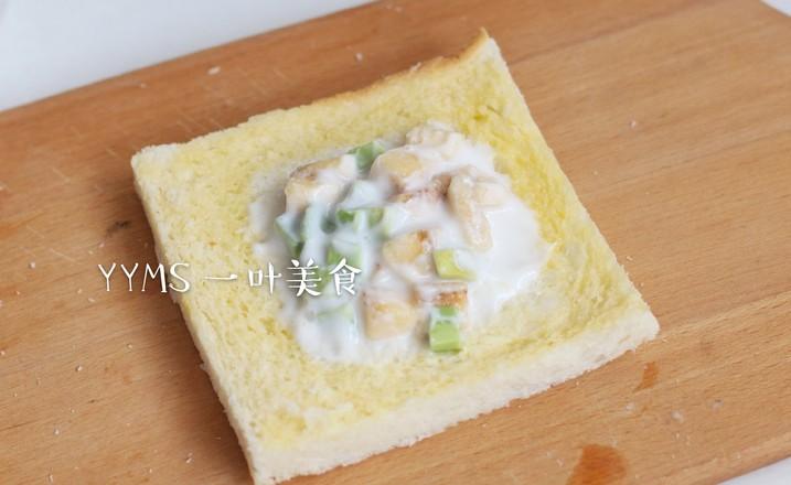 香蕉牛油果酸奶吐司的做法图解