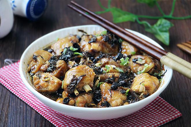 梅干菜蒸鸡翅成品图