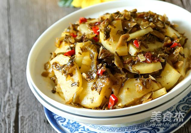 酸菜土豆片成品图