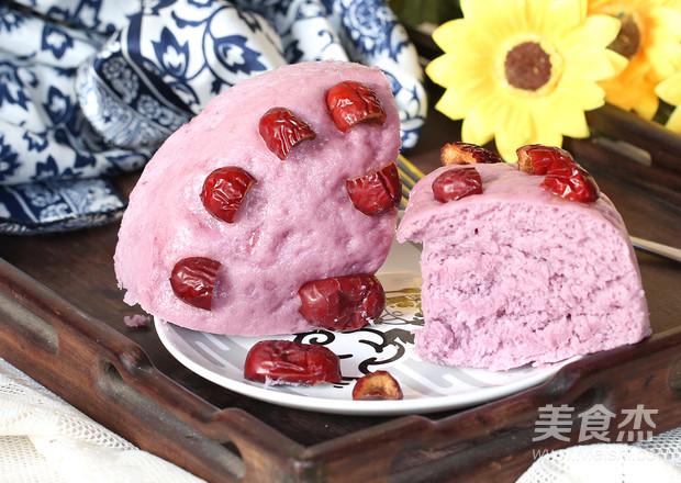 紫薯发糕成品图