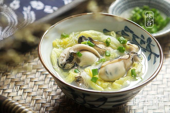 牡蛎白菜汤成品图