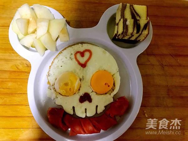 可爱的早餐成品图