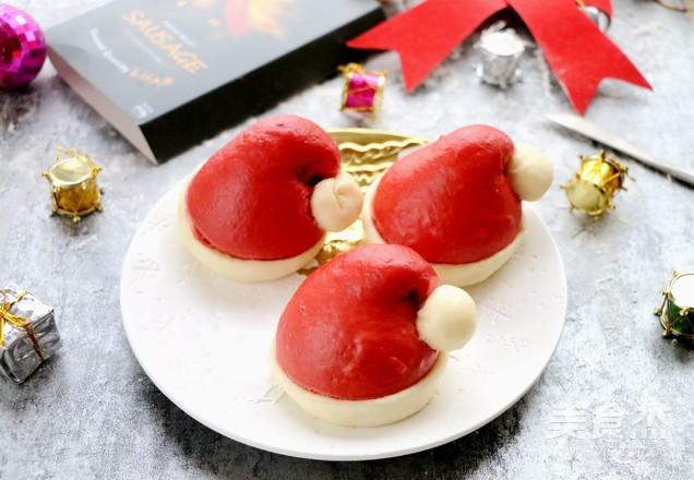 圣诞帽香菇香肠包成品图