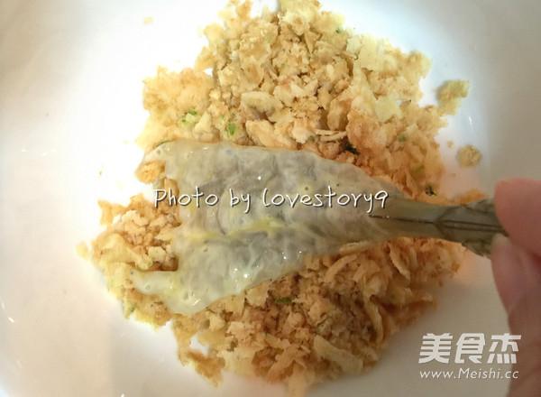 葱蒜蛋卷炸虾怎么煮