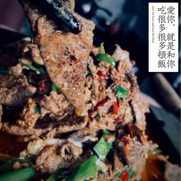 能吃两碗米饭的尖椒猪肝成品图