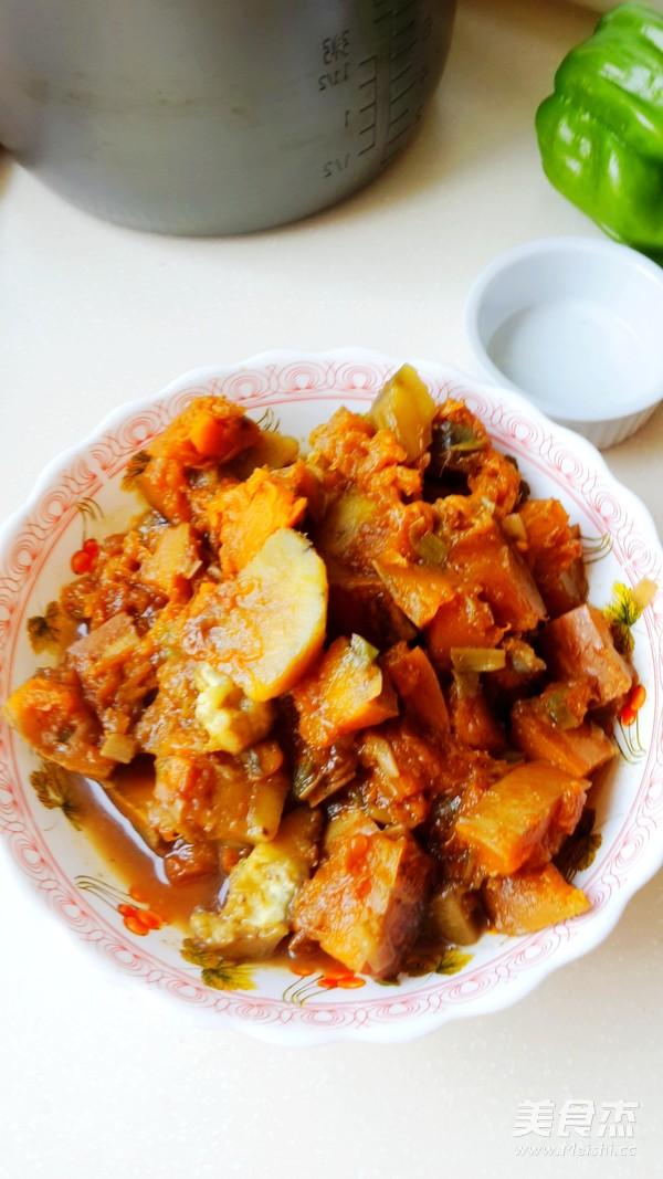 南瓜炖土豆怎么炒