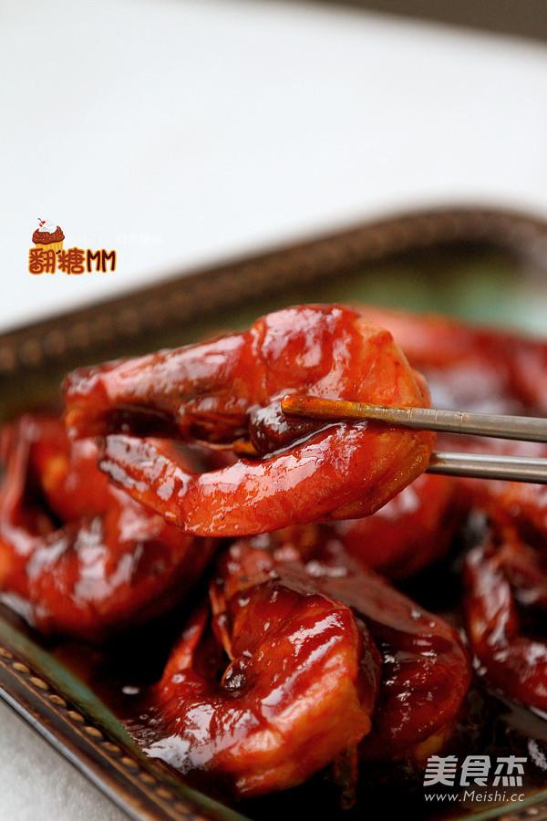 红焖大虾成品图