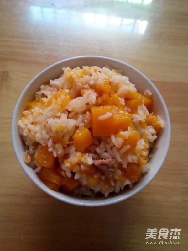 南瓜焖饭成品图