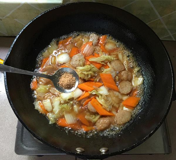 美食DIY——大白菜烩肉丸
