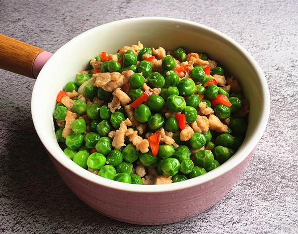 豌豆米炒肉末成品图