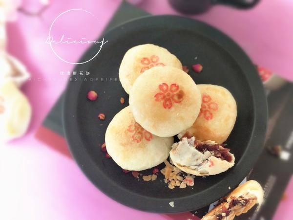 玫瑰鲜花饼成品图