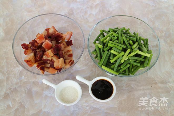 蒜苔炒腊肉的做法大全