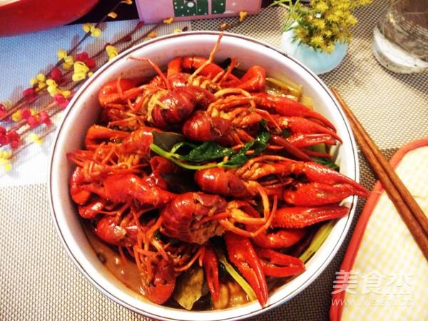 麻辣小龙虾成品图