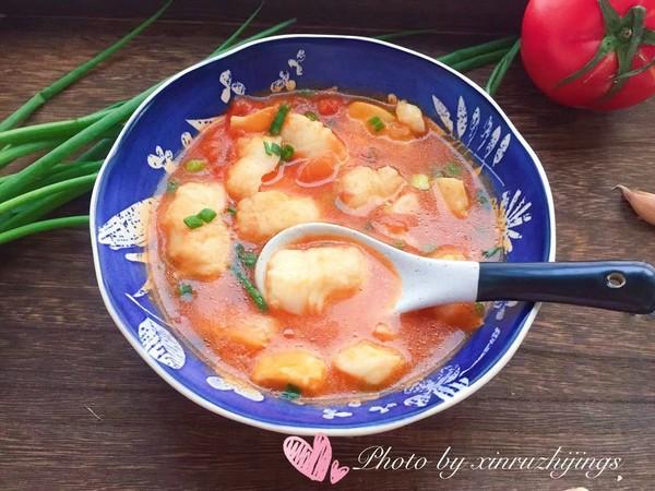 番茄龙利鱼汤成品图