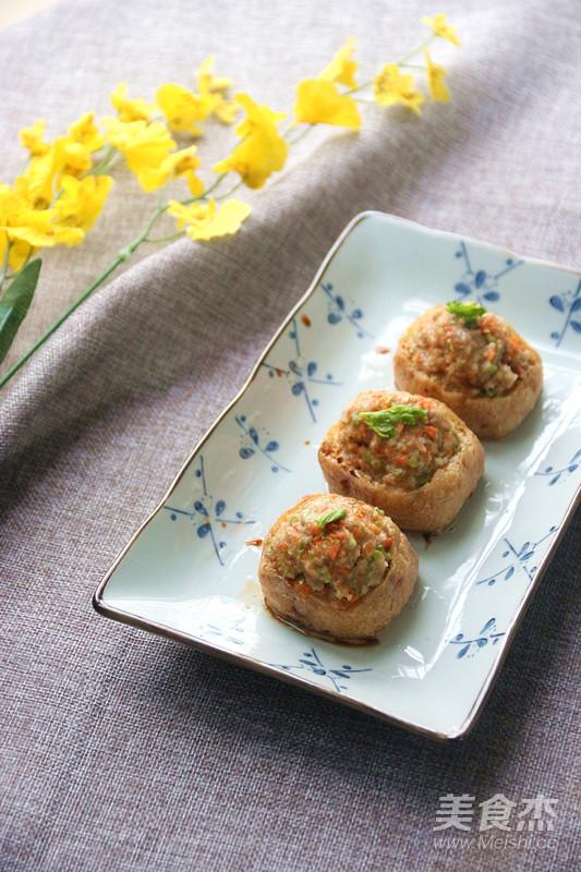 金银满屋肉末马蹄酿油豆腐成品图