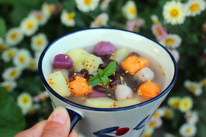 苹果芋圆甜汤成品图