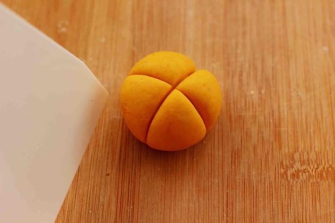 水晶南瓜紫薯包怎样做