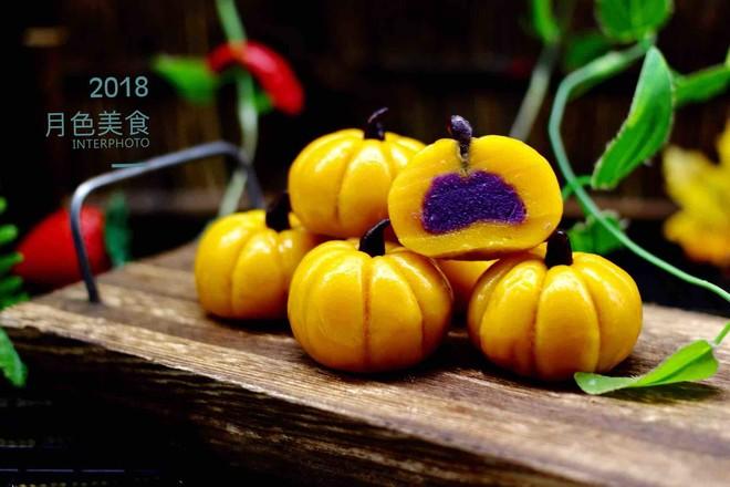 水晶南瓜紫薯包的做法大全