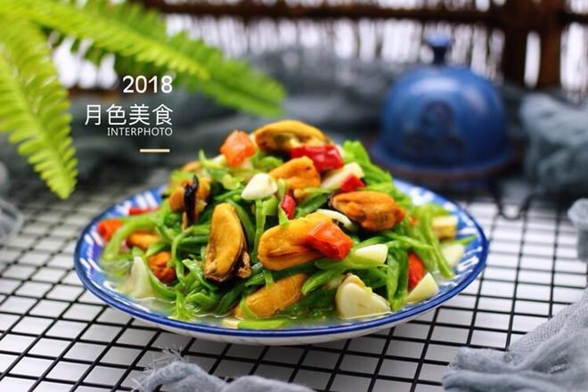 芸豆丝爆炒海虹肉成品图