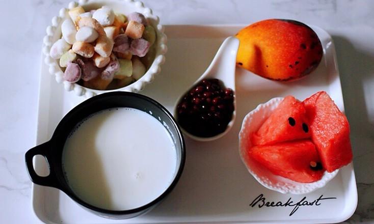 椰浆红豆芋圆水果捞的做法大全