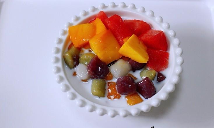 椰浆红豆芋圆水果捞怎样煸