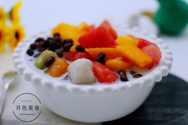 椰浆红豆芋圆水果捞怎样炒