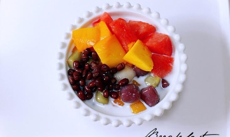 椰浆红豆芋圆水果捞怎样做