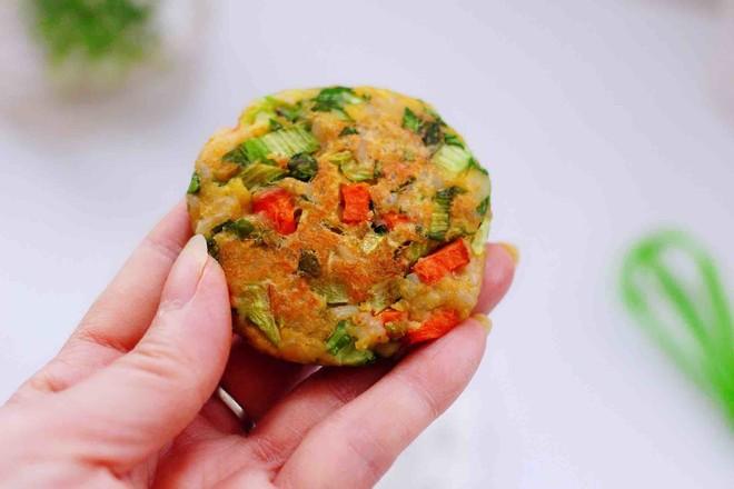 低脂杂粮谷物时蔬饼成品图