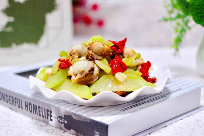 扇貝萵苣小炒成品圖