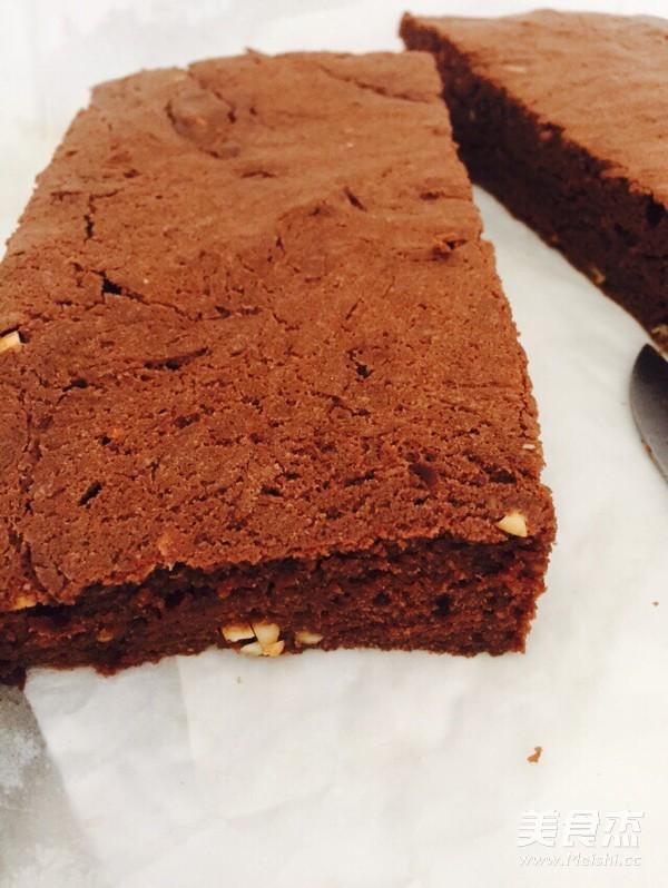 巧克力布朗尼成品图
