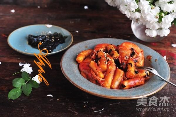 自制韩式年糕成品图