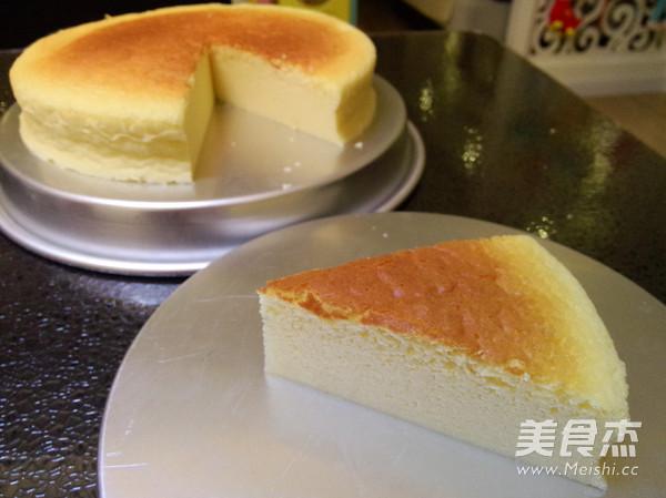 轻乳酪芝士蛋糕成品图