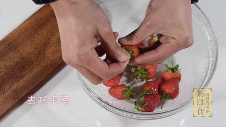 粥日食丨草莓糙米粥的做法图解