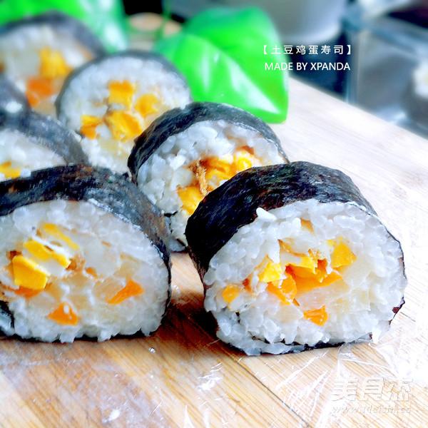 土豆鸡蛋寿司成品图