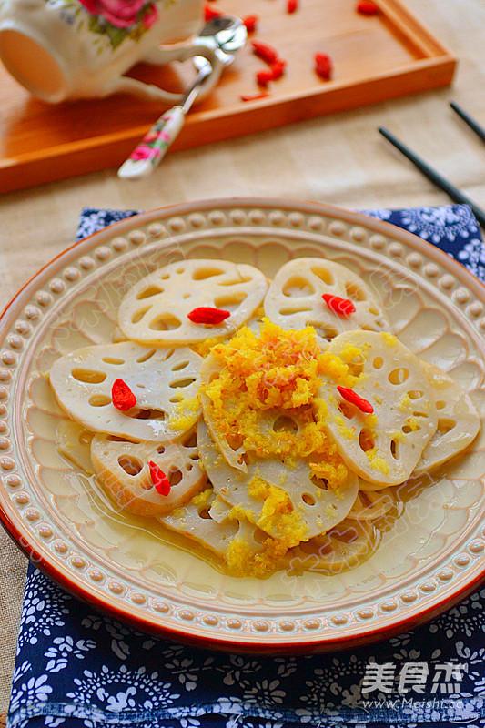 热姜汁藕片成品图