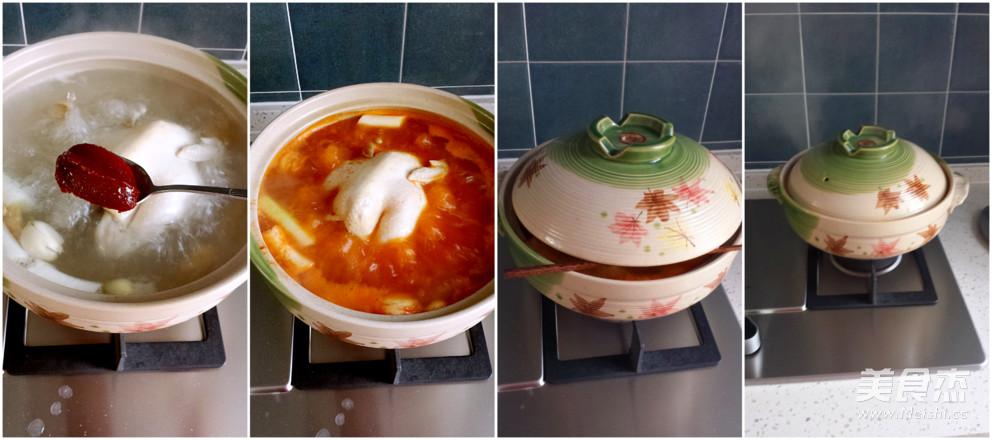 辣白菜鸡汤的家常做法