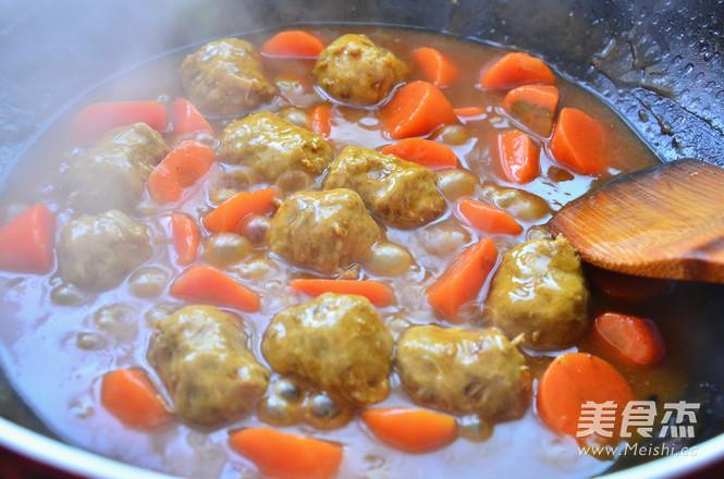 咖喱牛肉丸怎么炒
