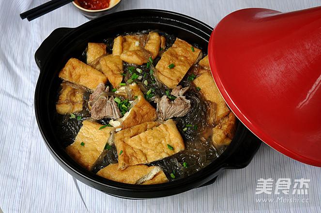 红薯粉豆腐煲成品图