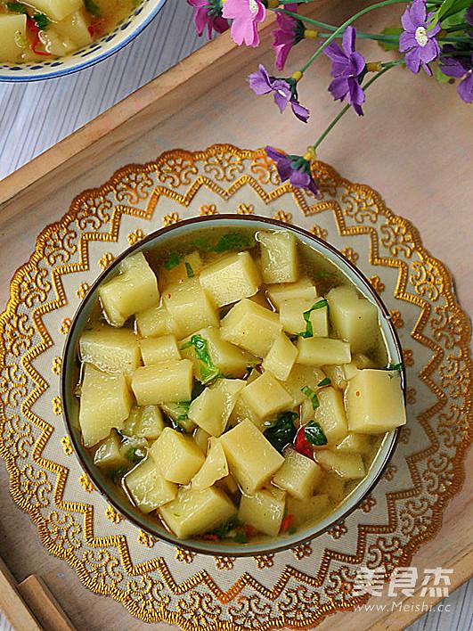 菜沫米豆腐成品图