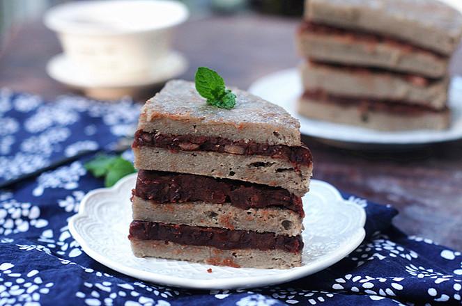 山药大米红豆糕成品图
