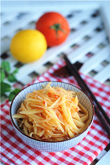茄汁土豆丝成品图