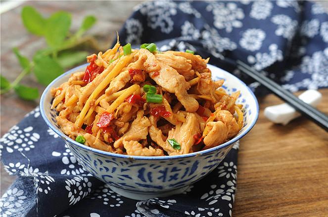 姜絲雞胸肉成品圖